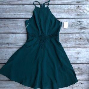 Charlotte Russe Dark Green Skater Dress